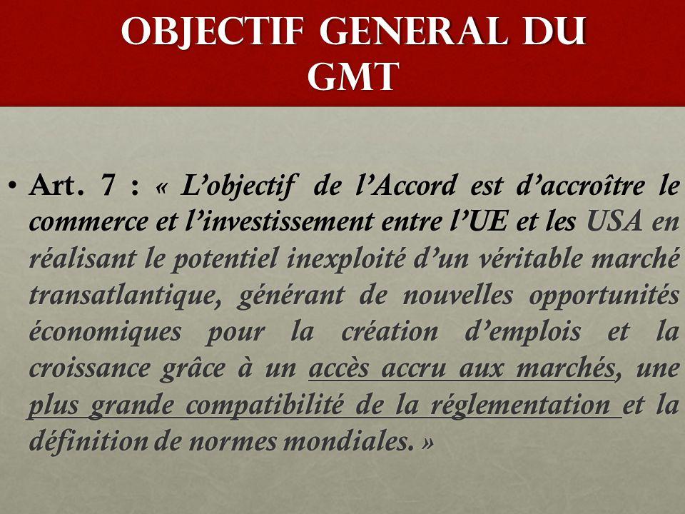 CHAMP D'APPLICATION DU GMT Art.4 : « Les obligations de l'Accord engageront tous les niveaux de gouvernement.