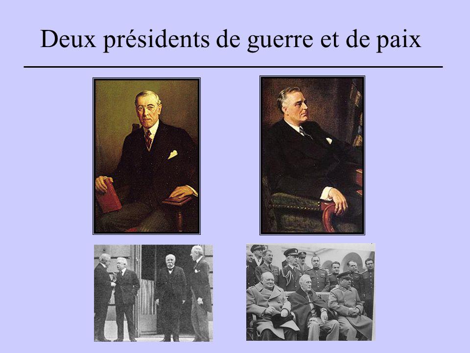 Deux présidents de guerre et de paix