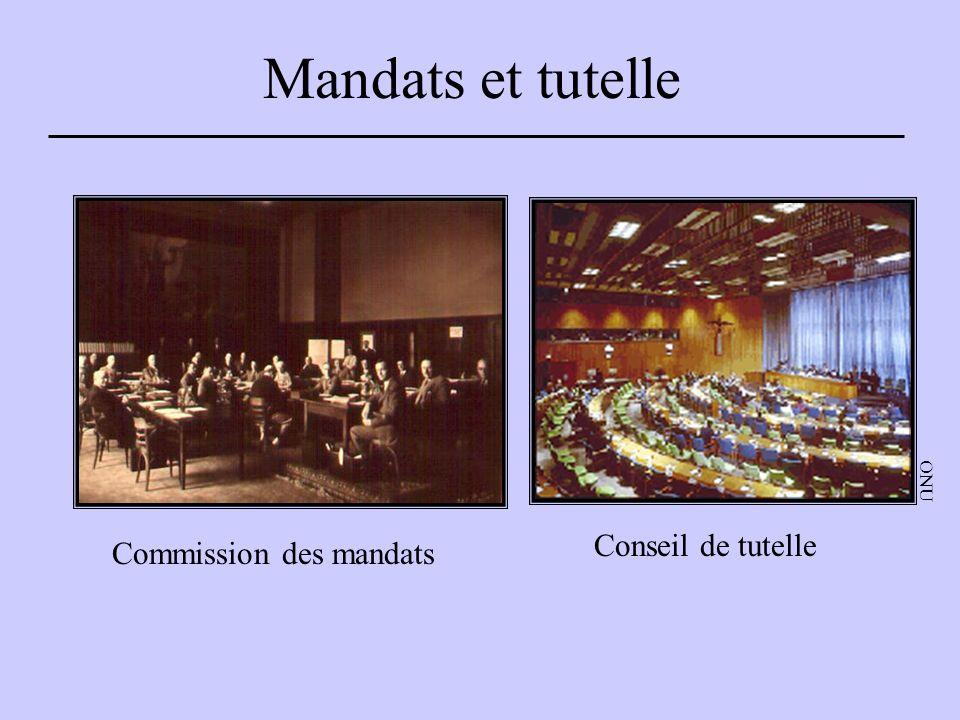 Mandats et tutelle Commission des mandats Conseil de tutelle ONU