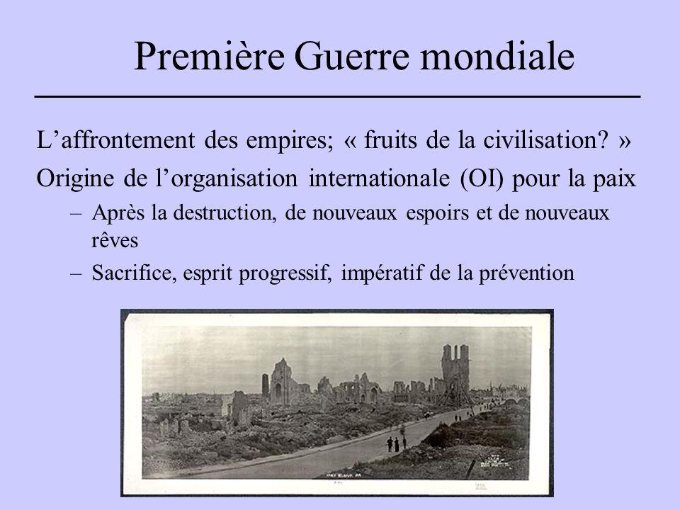 Première Guerre mondiale L'affrontement des empires; « fruits de la civilisation.