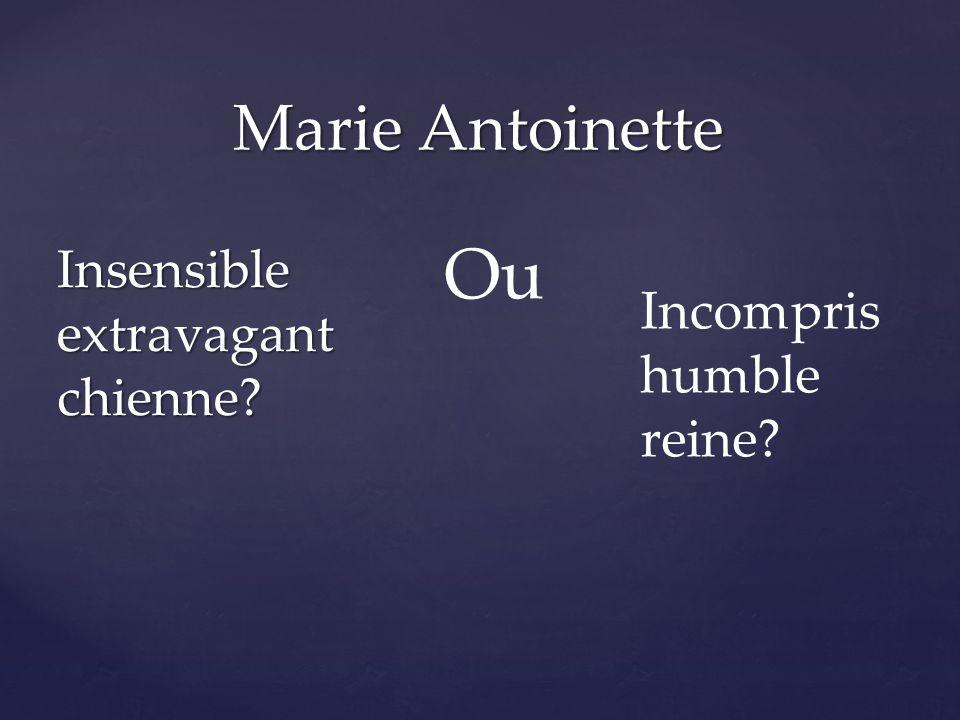 Insensible extravagant chienne Marie Antoinette Ou Incompris humble reine