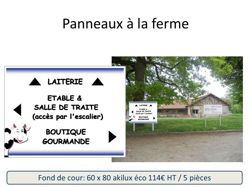 Fond de cour: 60 x 80 akilux éco 114€ HT / 5 pièces Panneaux à la ferme