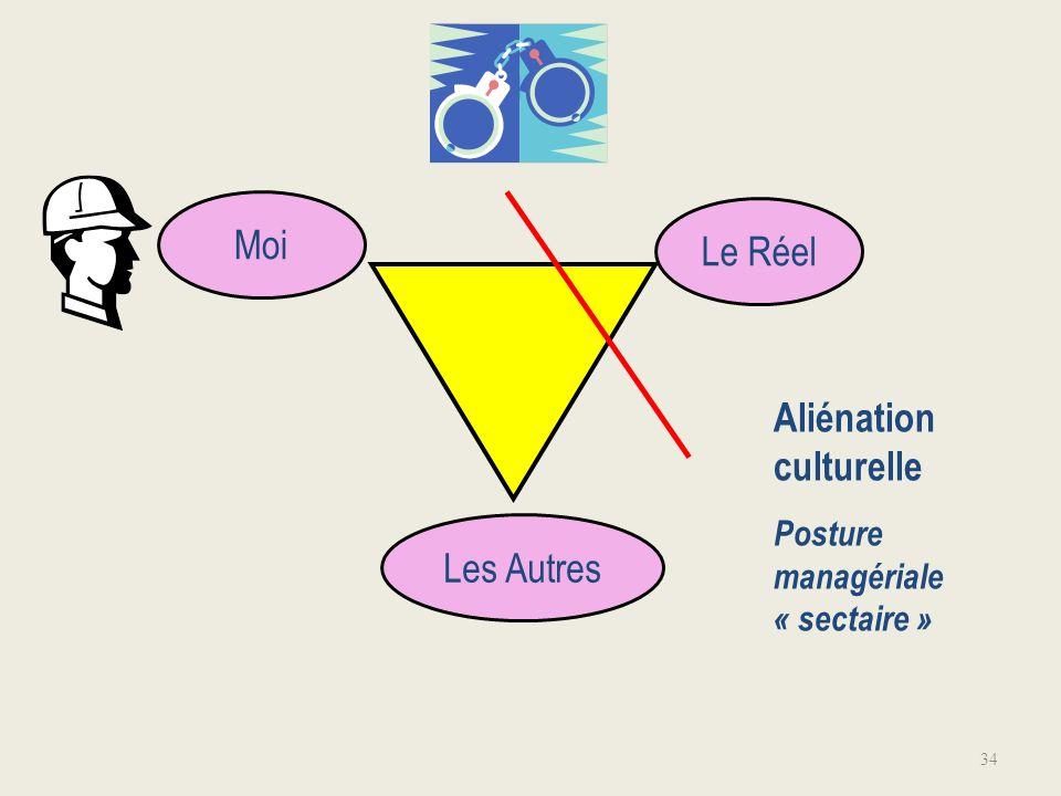 34 Moi Le Réel Aliénation culturelle Posture managériale « sectaire » Les Autres