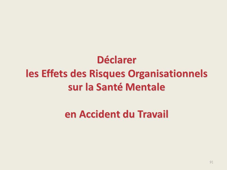 Déclarer les Effets des Risques Organisationnels sur la Santé Mentale en Accident du Travail 91