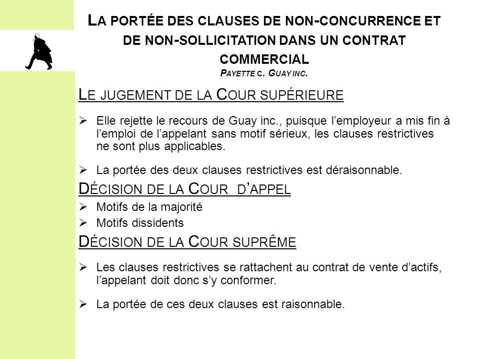 2.LES ÉLÉMENTS CONSTITUTIFS DE L'OBLIGATION D'ACCOMMODEMENT ET LE PROCESSUS) III.