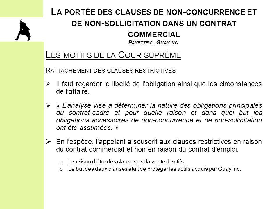2.LES ÉLÉMENTS CONSTITUTIFS DE L'OBLIGATION D'ACCOMMODEMENT ET LE PROCESSUS IV.