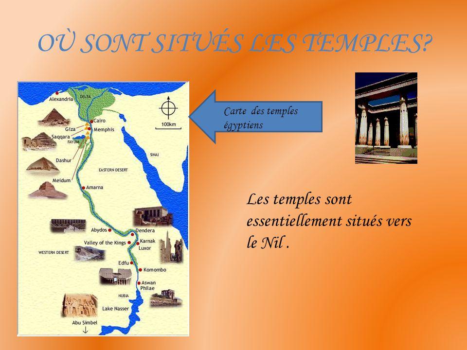 Le naos du temple d'Edfou Le sanctuaire où se trouve la statue du dieu.