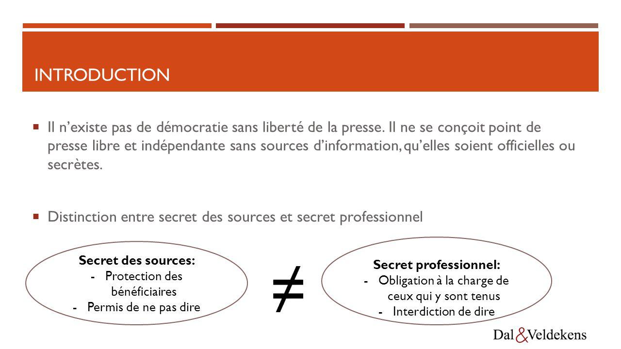 INTRODUCTION  Il n'existe pas de démocratie sans liberté de la presse.