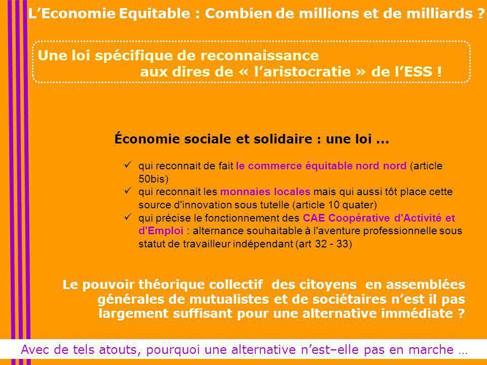 Économie sociale et solidaire : une loi...