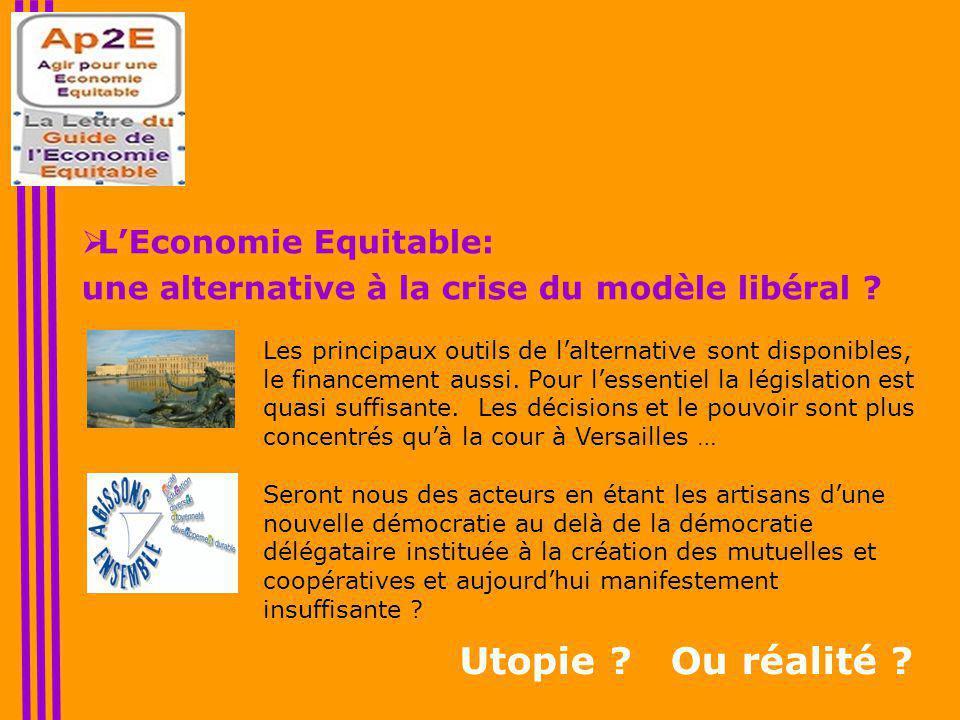  L'Economie Equitable: une alternative à la crise du modèle libéral .