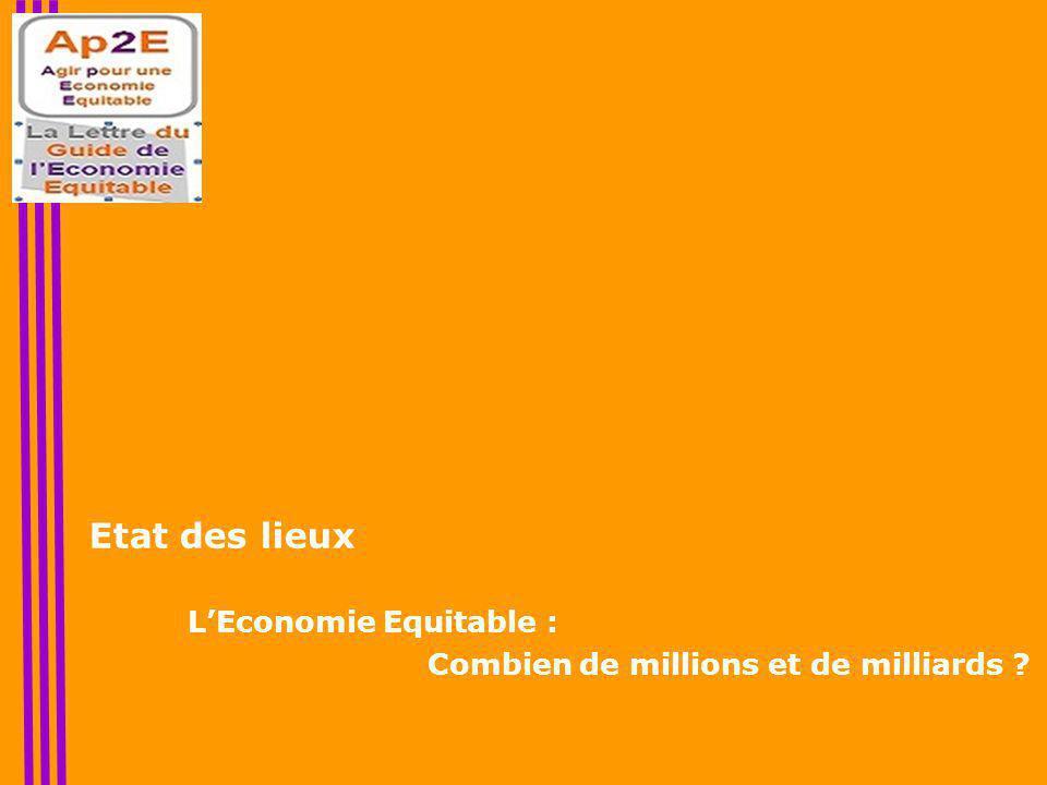 Etat des lieux L'Economie Equitable : Combien de millions et de milliards ?