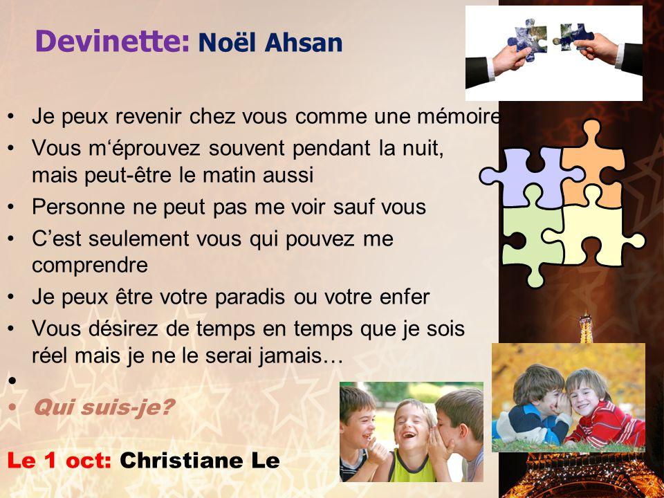 Annonces Importantes.1. LE CLUB FRANÇAIS 2012-2013 –Dues before Friday, September 28 to M.