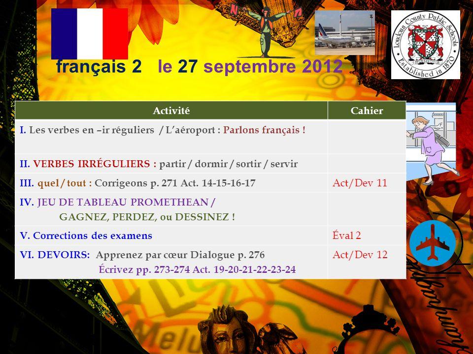 français 2 Corrigeons p. 271 14-15-16-17 p. 271 Act. 14 1. Moi, j'aime toutes les matières. 2. Moi, j'aime toutes les langues. 3. Moi, j'aime toutes l