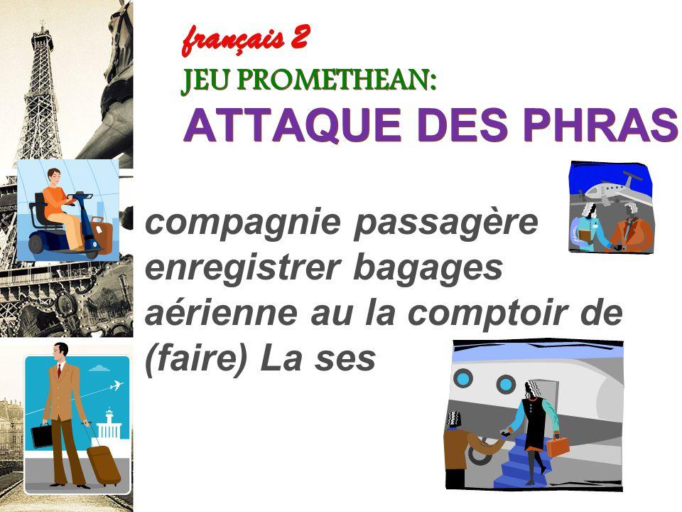 français 2 le 27 septembre 2012 ActivitéCahier I. Les verbes en –ir réguliers / L'aéroport : Parlons français ! II. VERBES IRRÉGULIERS : partir / dorm