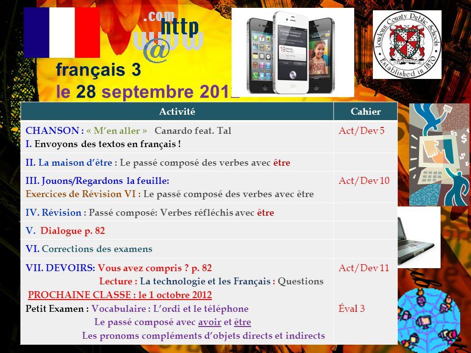 Envoyons des textos en français! 1. 2 ri 1 –De rien! 2. A+ –A plus! 3. auj –Aujourd'hui 4. biz –Bisous 5. bjr –Bonjour 6. C pa 5pa –C'est pas sympa! 7
