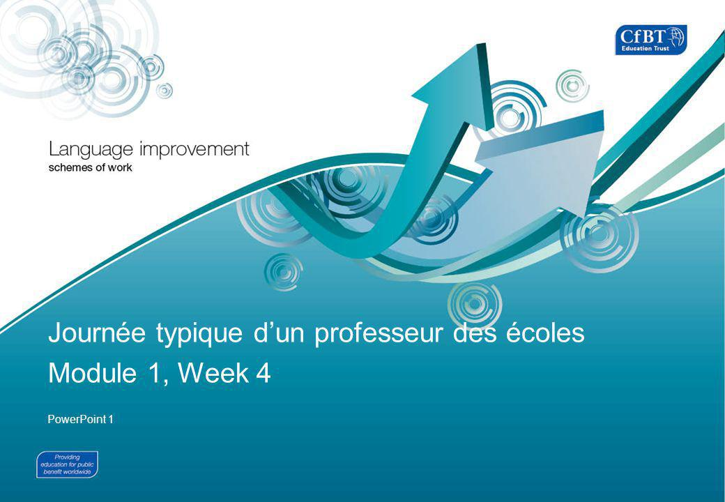 FRENCH14 PowerPoint 1, LI in French Produced by CfBT Education Trust on behalf of the Department for Education © Crown copyright 2012 2 A 7h00...