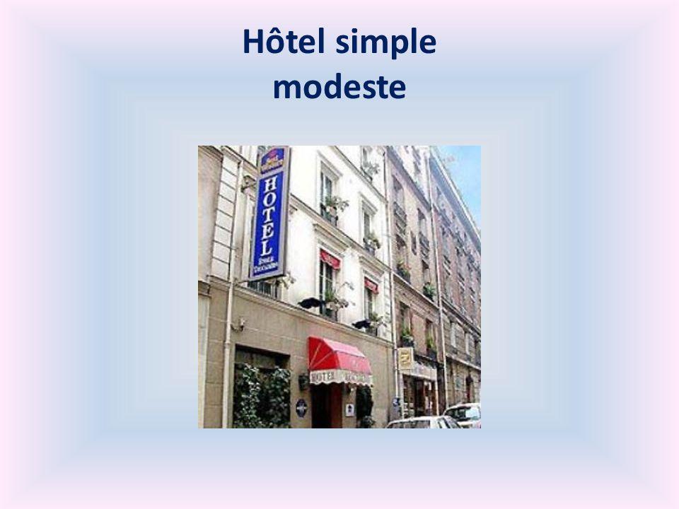 Hôtel simple modeste