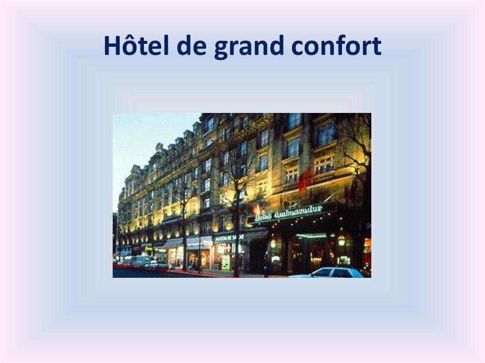 Hôtel de grand confort