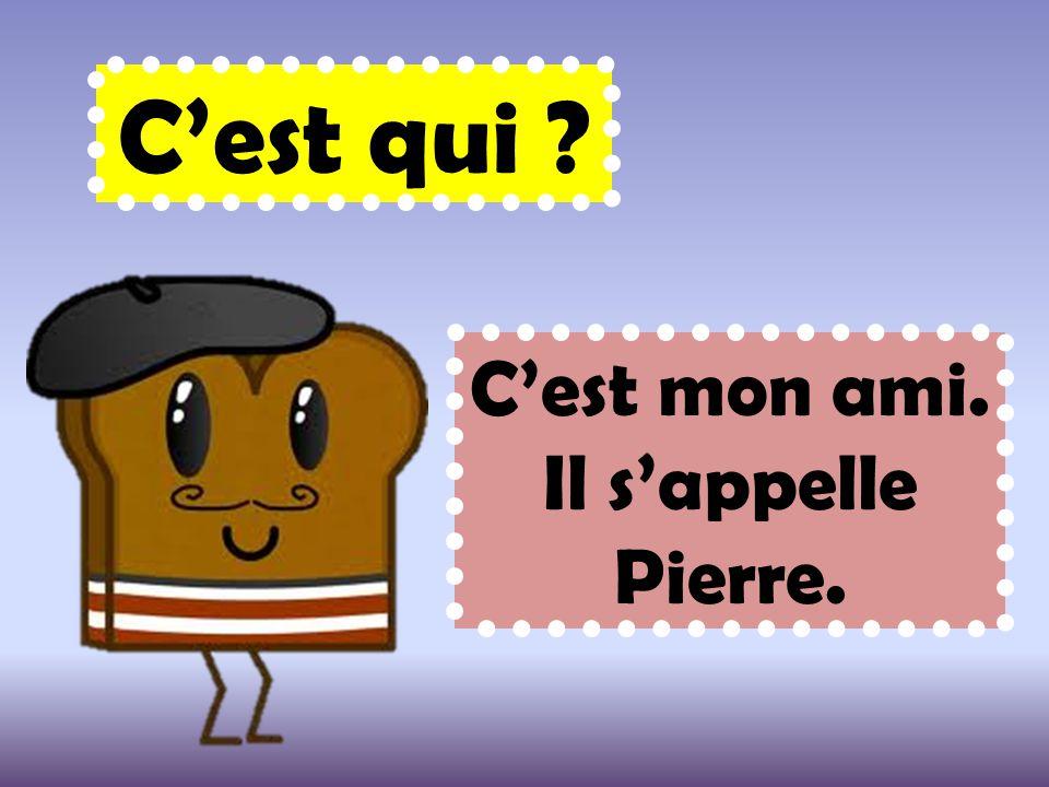 C'est qui ? C'est mon ami. Il s'appelle Pierre.