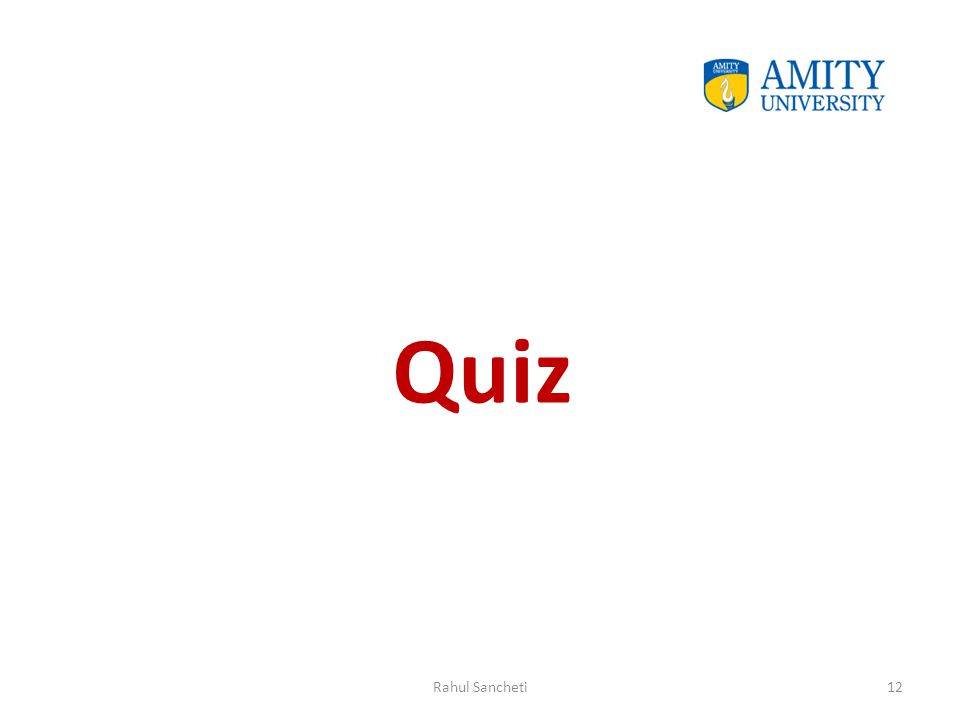 Quiz Rahul Sancheti12
