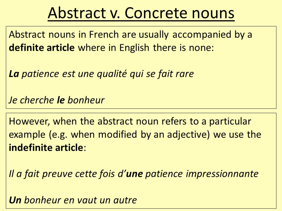 Collective nouns Collective nouns refer to collections of people or things: comité (m) équipe (f) foule (f) gouvernement (m) main-d'œuvre (f) peuple (m) vaisselle (f) When a collective noun is the subject of a clause the verb is usually singular e.g.