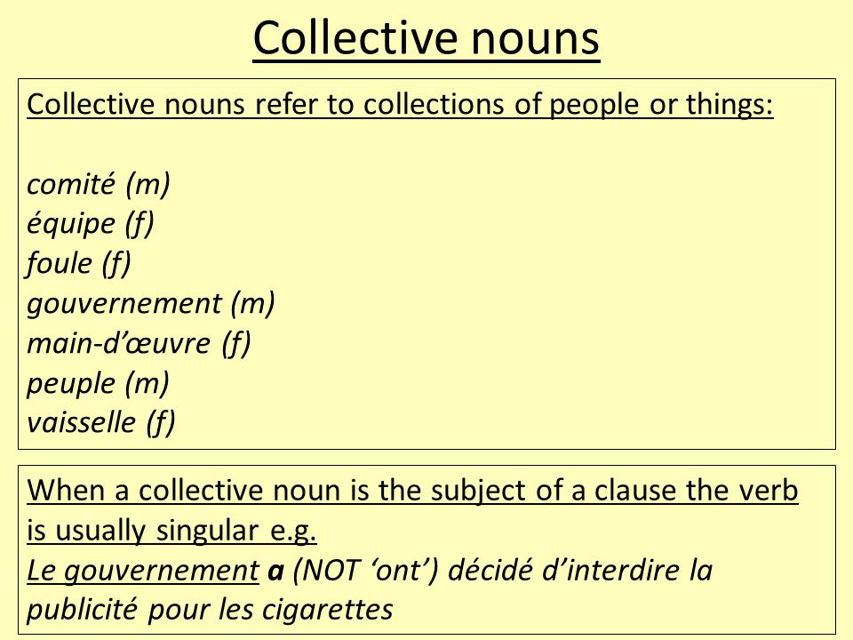 Proper nouns Proper nouns are names of people or places.