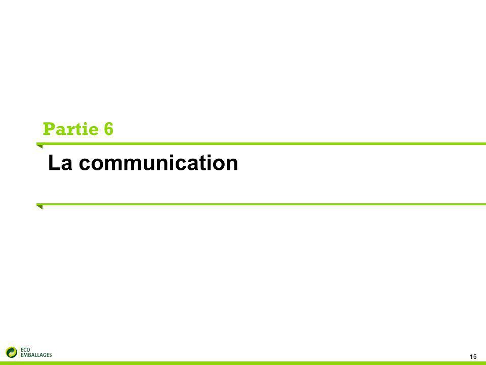 Partie 6 La communication 16