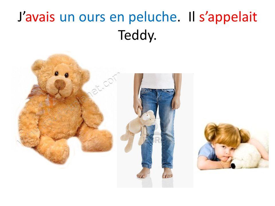 J'avais un ours en peluche. Il s'appelait Teddy.
