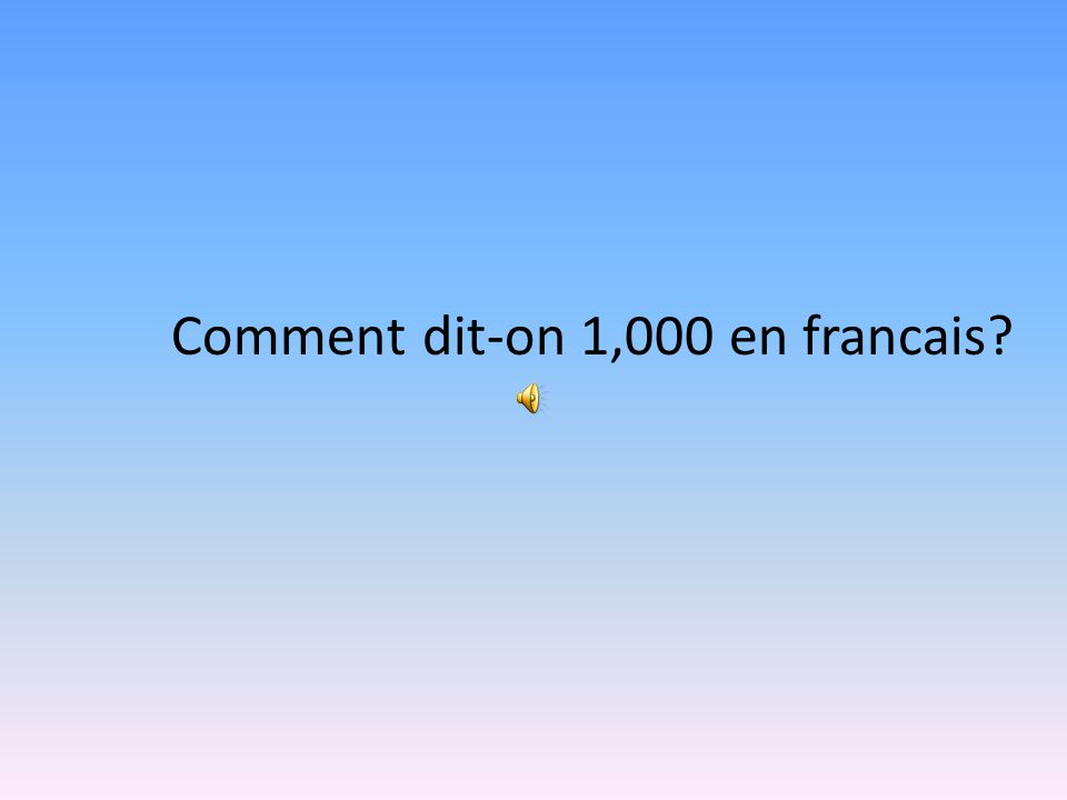 Comment dit-on 750 en francais? Sept cent cinquante