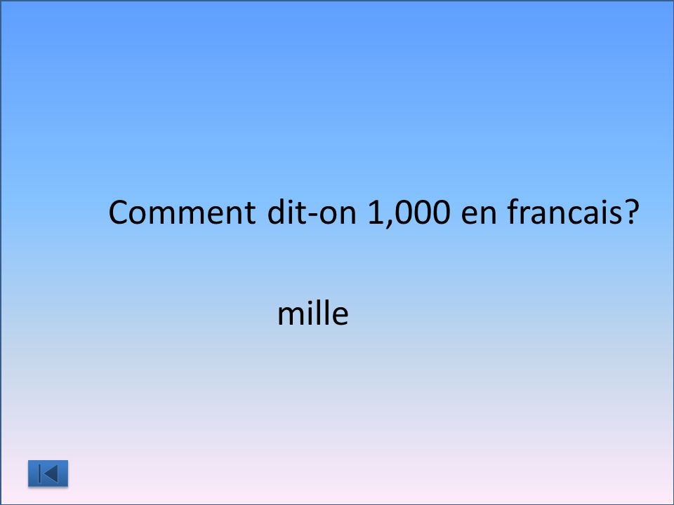 Comment dit-on 1,000 en francais?