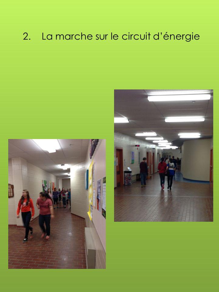 2. La marche sur le circuit d'énergie