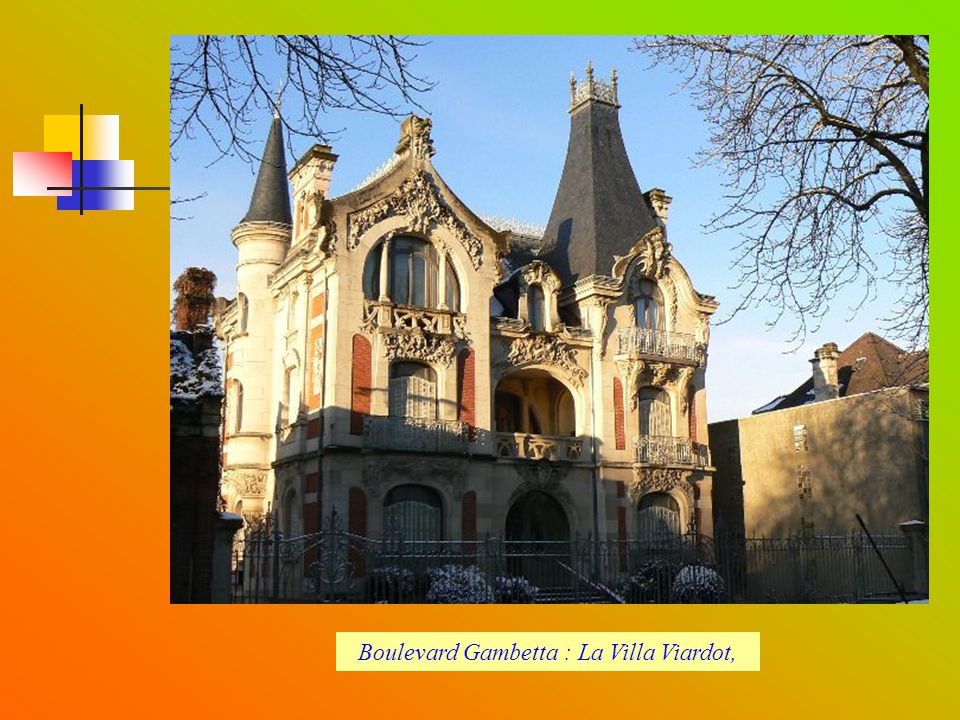 Boulevard Gambetta : La Villa Viardot,