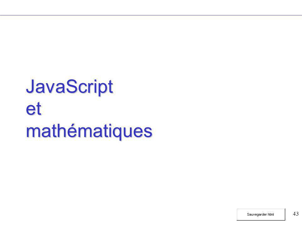 43 JavaScript et mathématiques