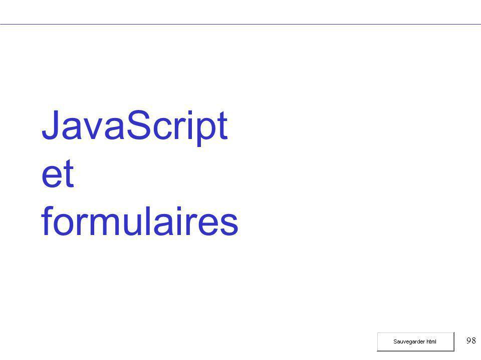 98 JavaScript et formulaires