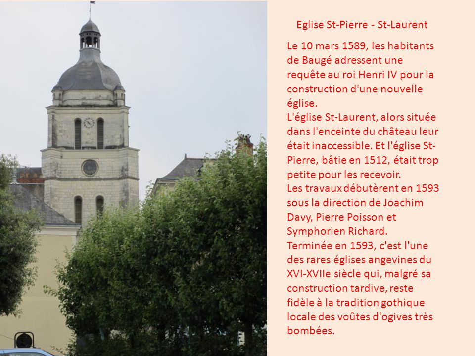 En 1783, l hospice fût fondé dans l ancien Hôtel du Maître des Eaux et Forêts de Baugé.