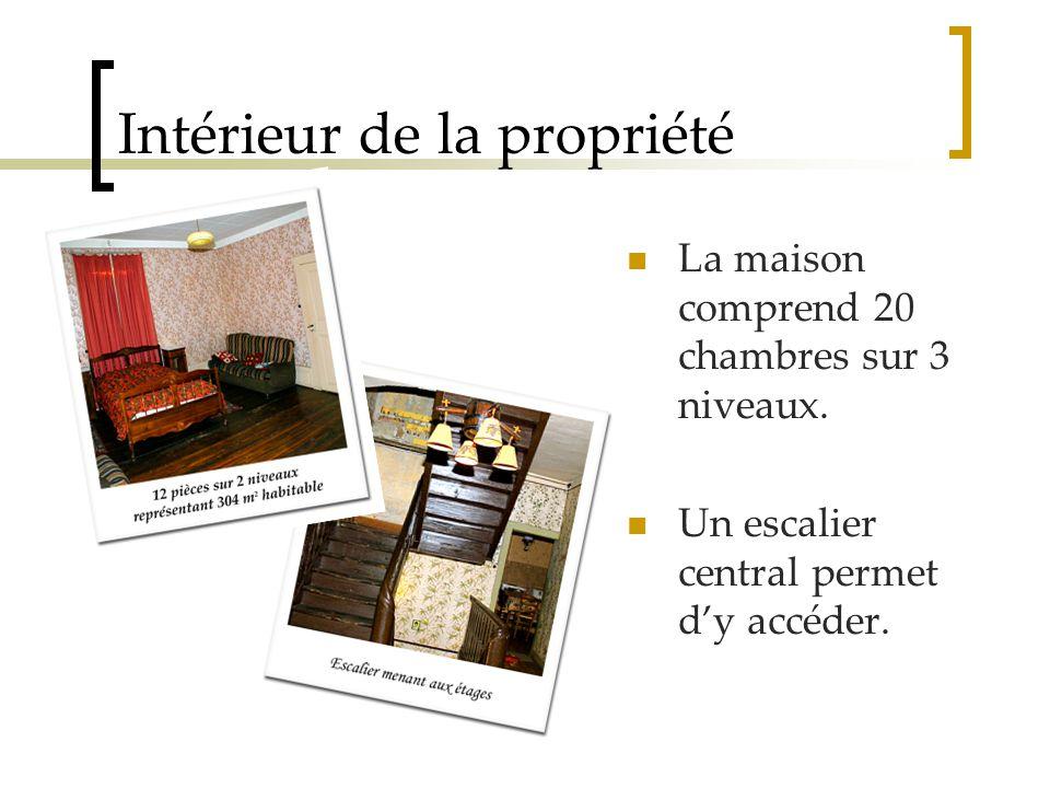 Intérieur de la propriété La maison comprend 20 chambres sur 3 niveaux.