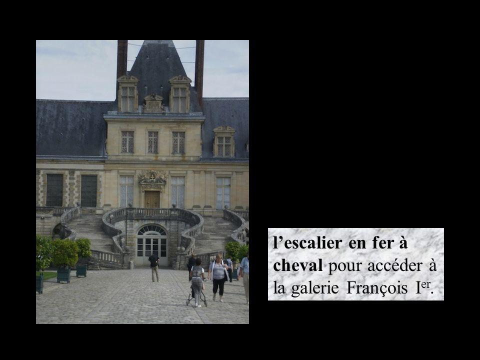 l'escalier en fer à cheval pour accéder à la galerie François I er.