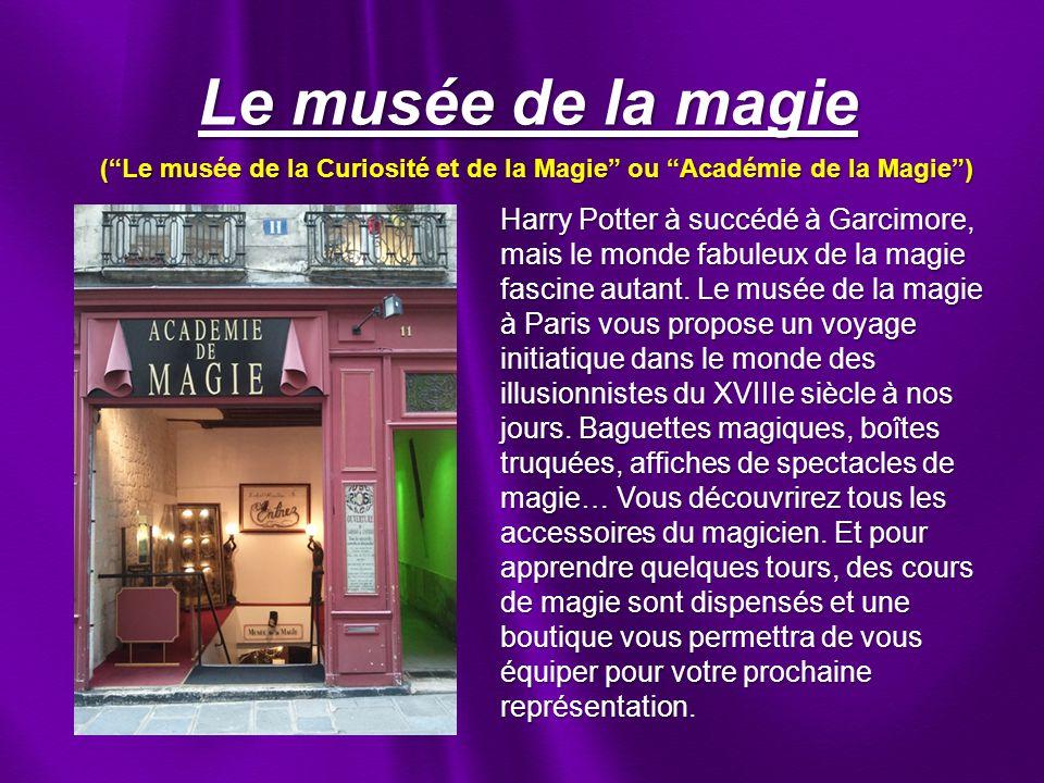 Le musée de la magie Harry Potter à succédé à Garcimore, mais le monde fabuleux de la magie fascine autant.