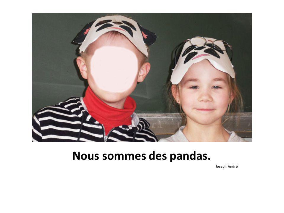 Nous sommes des pandas. Joseph André