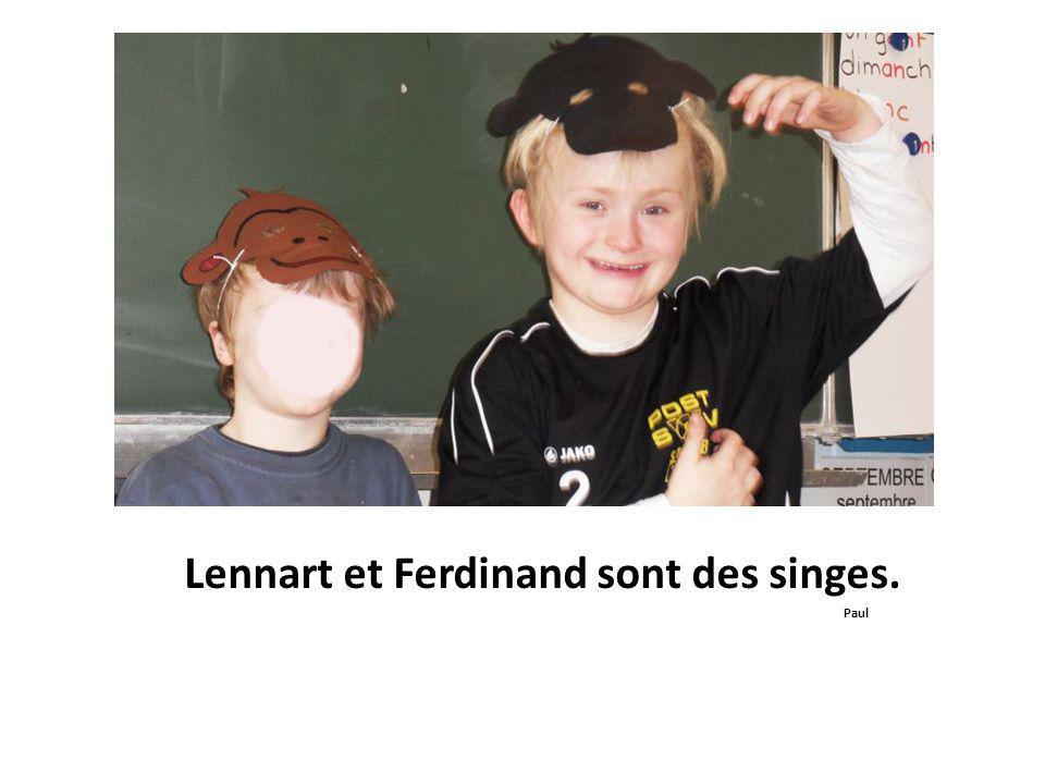 Lennart et Ferdinand sont des singes. Paul