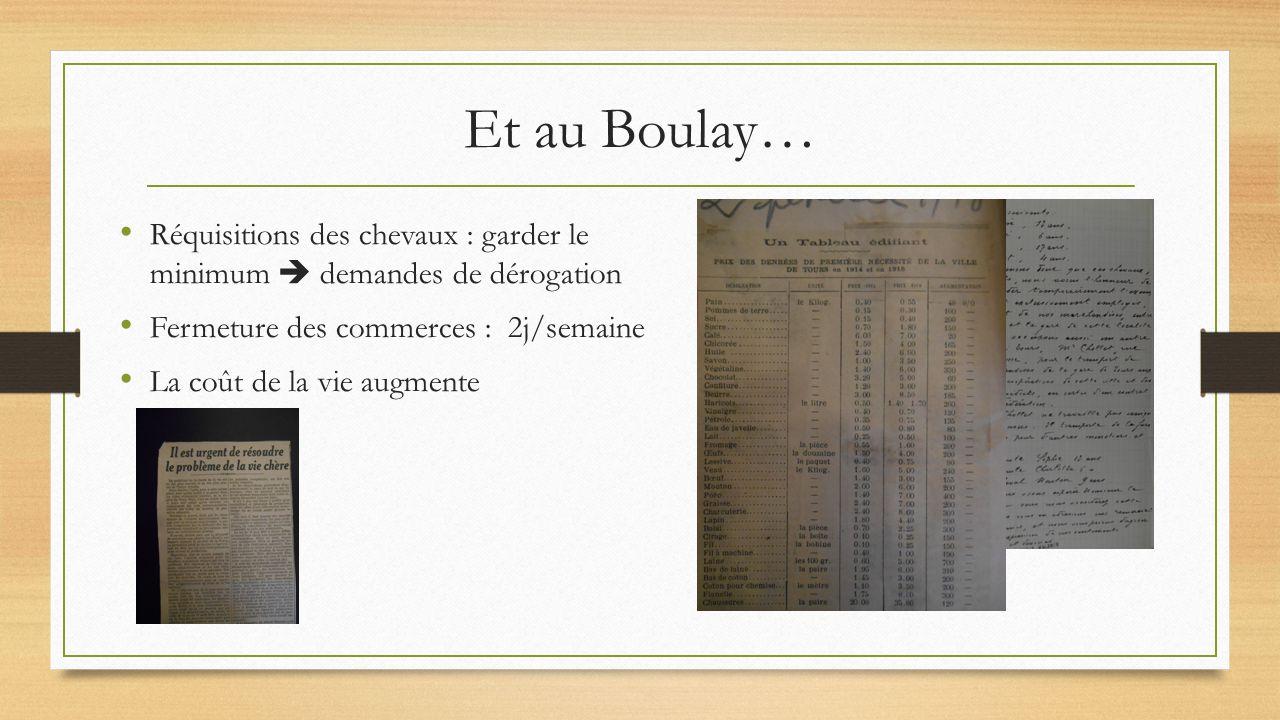 Réquisitions des chevaux : garder le minimum  demandes de dérogation Fermeture des commerces : 2j/semaine La coût de la vie augmente Et au Boulay…