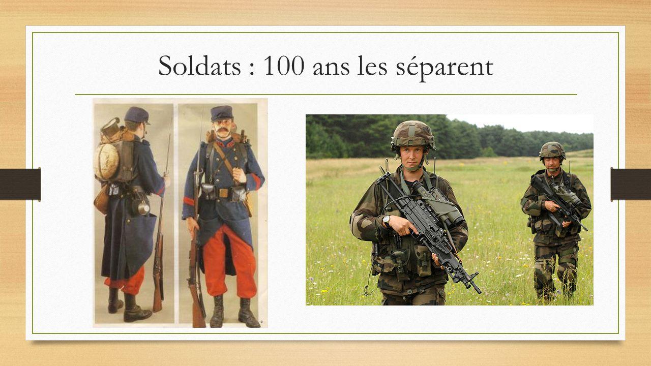 Soldats : 100 ans les séparent