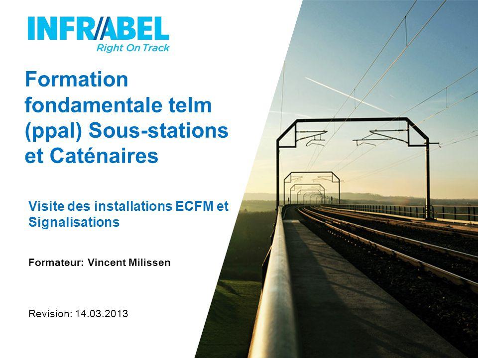 Formation fondamentale telm (ppal) Sous-stations et Caténaires Visite des installations ECFM et Signalisations Formateur: Vincent Milissen Revision: 14.03.2013