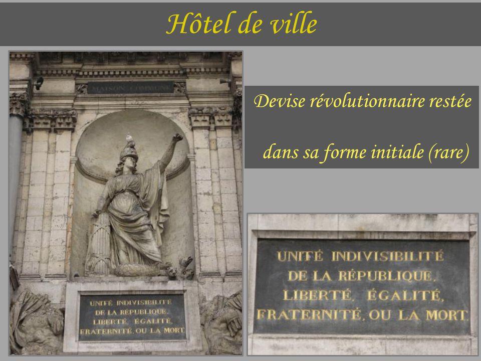 Hôtel de ville Devise révolutionnaire restée dans sa forme initiale (rare)