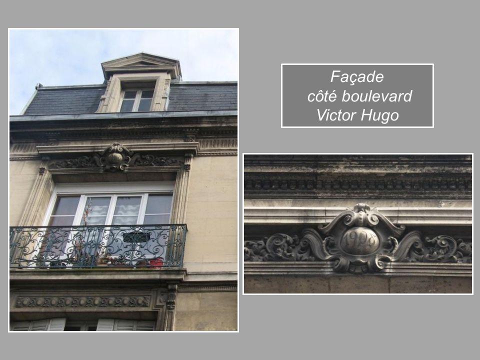 Façade côté boulevard Victor Hugo