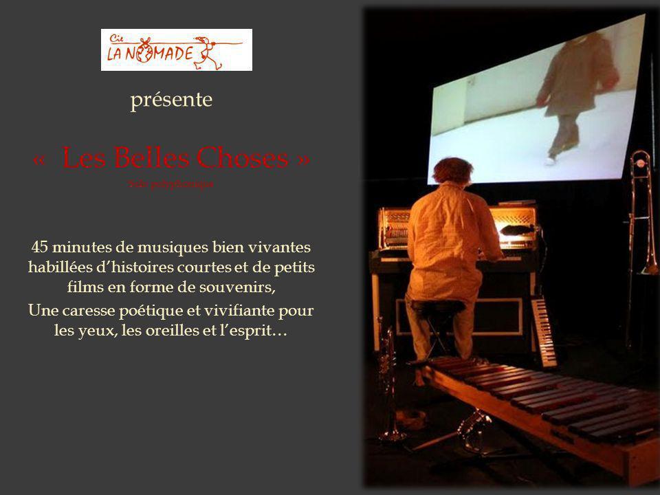 présente « Les Belles Choses » Solo polyphonique 45 minutes de musiques bien vivantes habillées d'histoires courtes et de petits films en forme de sou