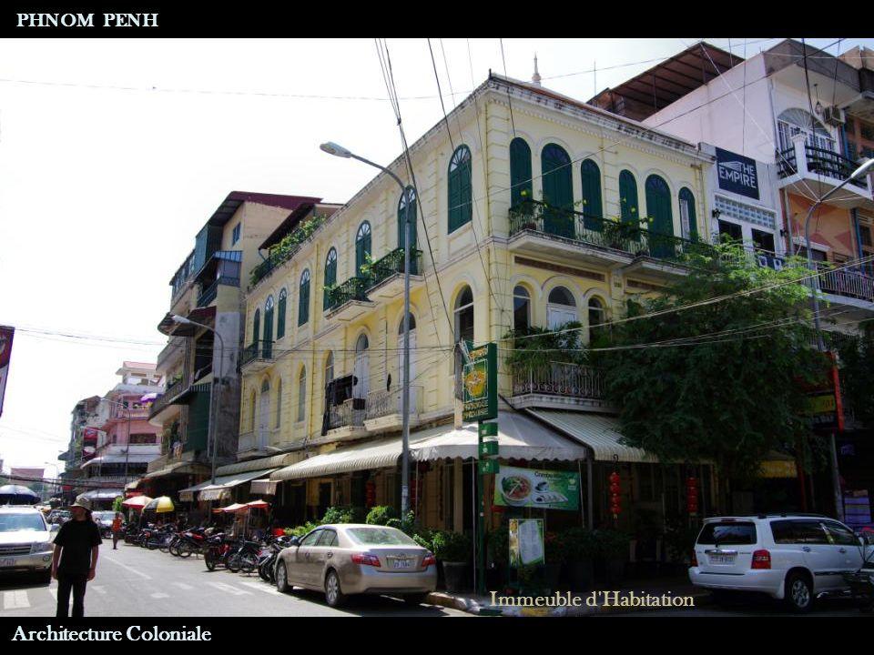 Architecture Coloniale Hôtel International PHNOM PENH