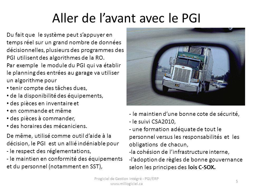 Progiciel de Gestion Intégré - PGI/ERP www.millogiciel.ca 16
