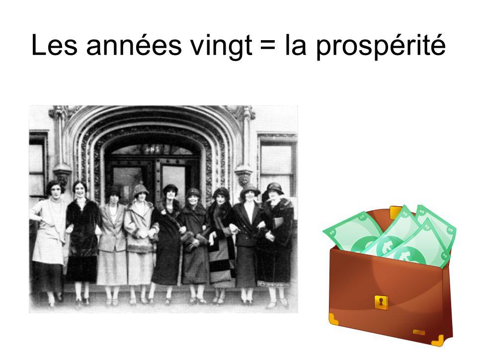 Les années vingt = la prospérité