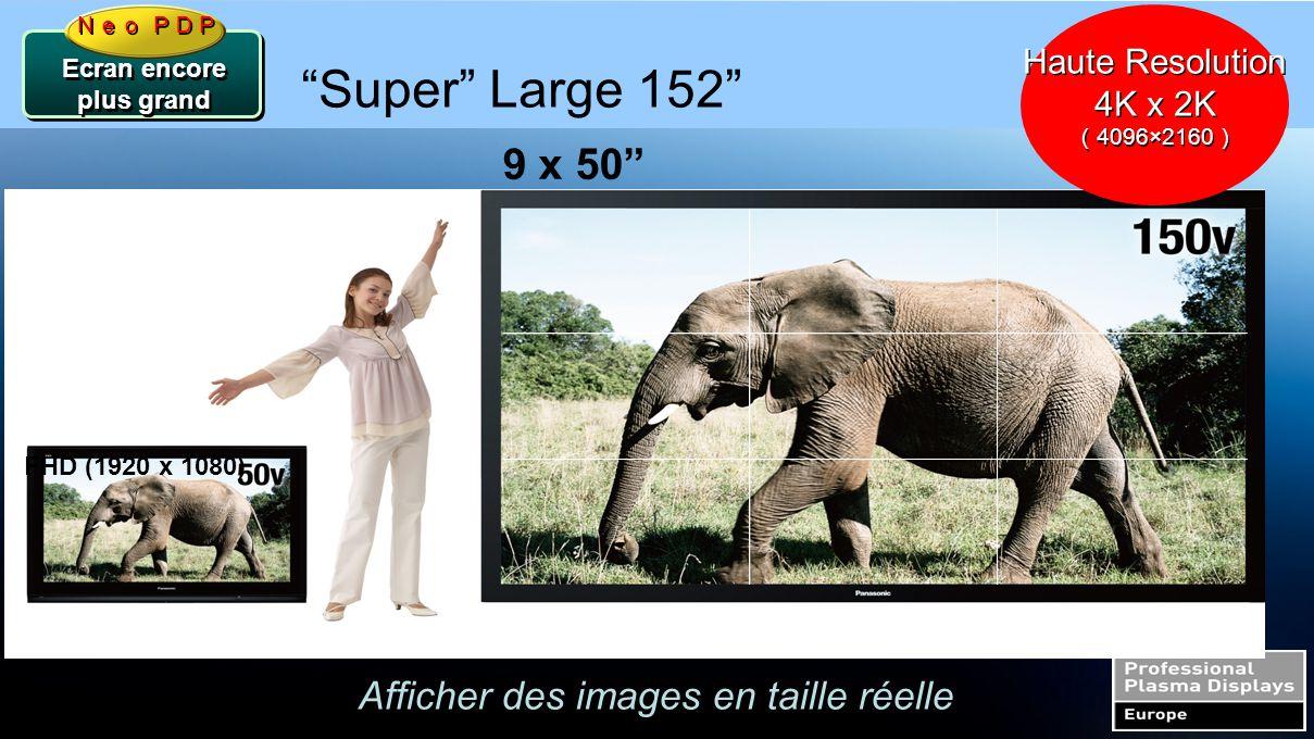 """Le Futur de la technologie Plasma Ecran encore plus grand FHD (1920 x 1080) 9 x 50"""" """"Super"""" Large 152"""" Neo PDP Afficher des images en taille réelle Ha"""